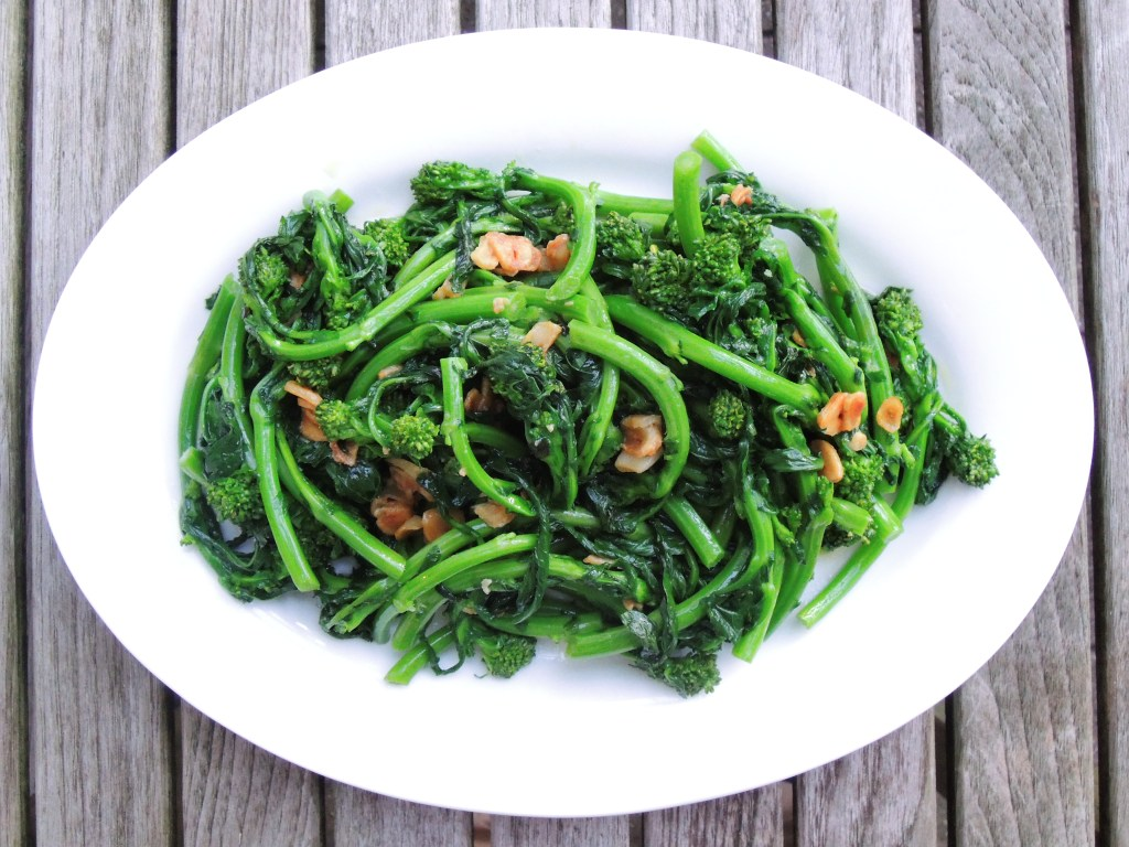 Vegetables, broccoli, steamed, broccoli rabe with garlic 1