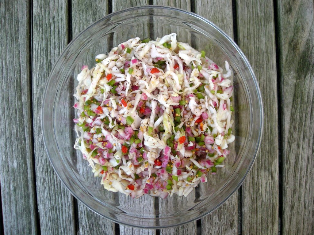 Salads, slaw, coleslaw, Marty's marinated coleslaw (Kansas City)  1