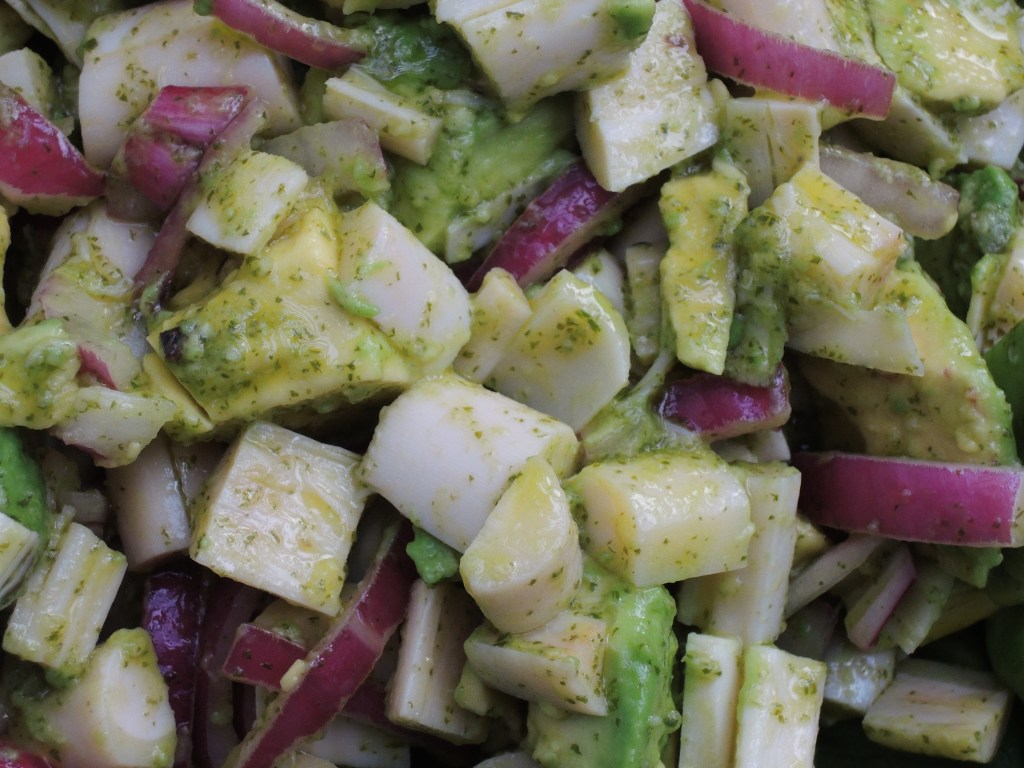Salads, vegetable, avocado and hearts of palm salad with coriander vinaigrette 2