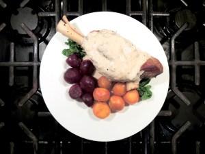 Lamb, lamb shanks braised in yogurt 3