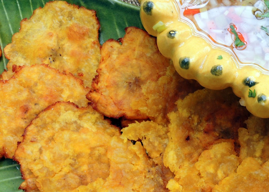 Appetizers, chips, crackers and other dunkers, tostones (fried green plantains) 2