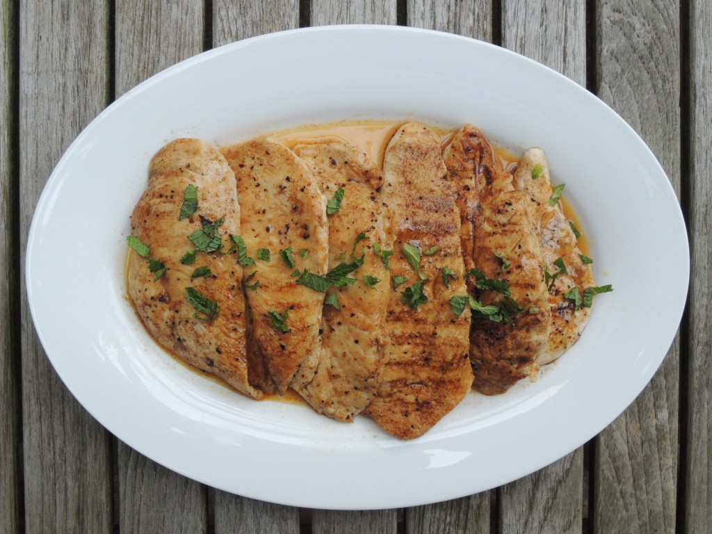 Chicken, sauteed chicken cutlets with Moroccan spices 1