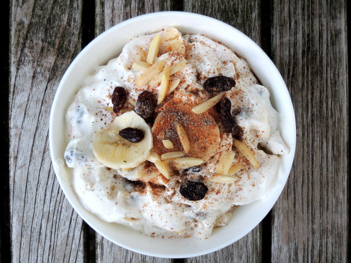 Condiments, yogurt, sweet banana raita 1
