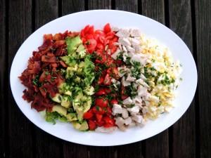 Salads, chopped, Cobb salad 1
