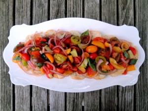 Salads, tomato, panzanella (Tuscan bread and tomato salad) 1
