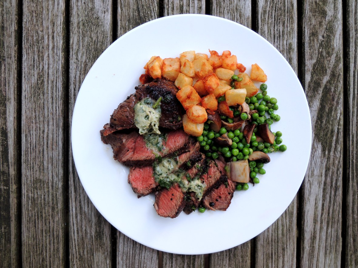 Beef, pan-seared filets mignon au poivre 1