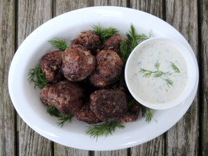 Meatballs, keftedakia (Greek beef and lamb meatballs) 1