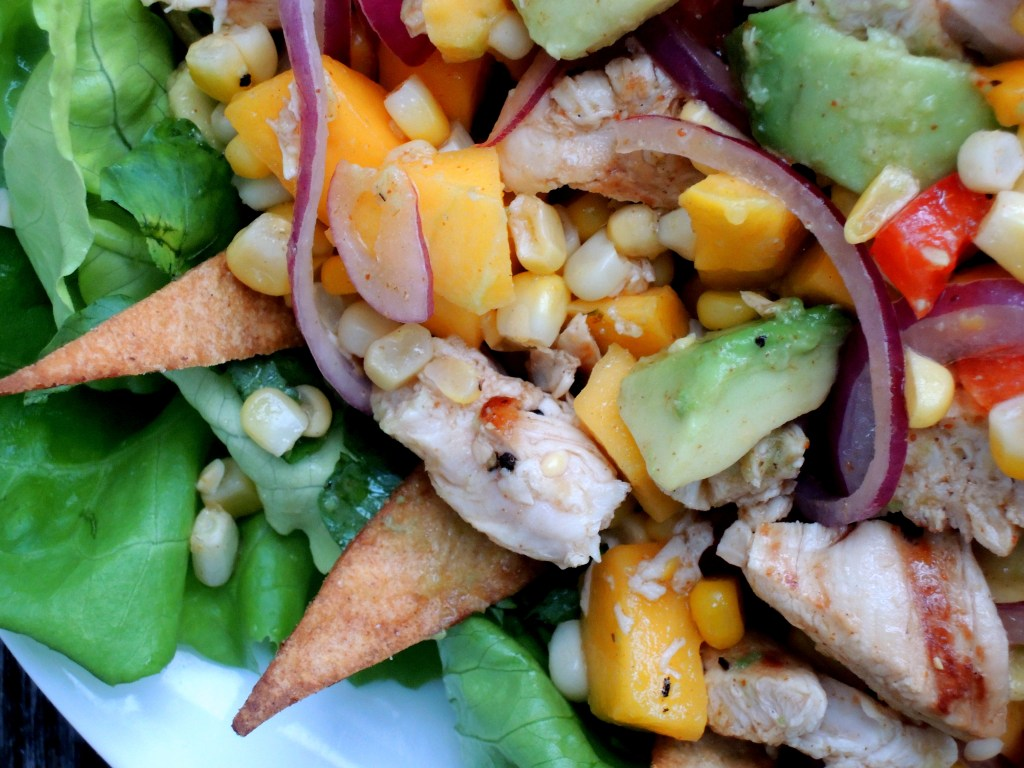 Salads, chicken, Rosa Mexicano street salad 2