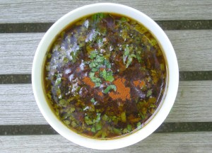 Condiments, herb sauces, chimichurri sauce (red) 1