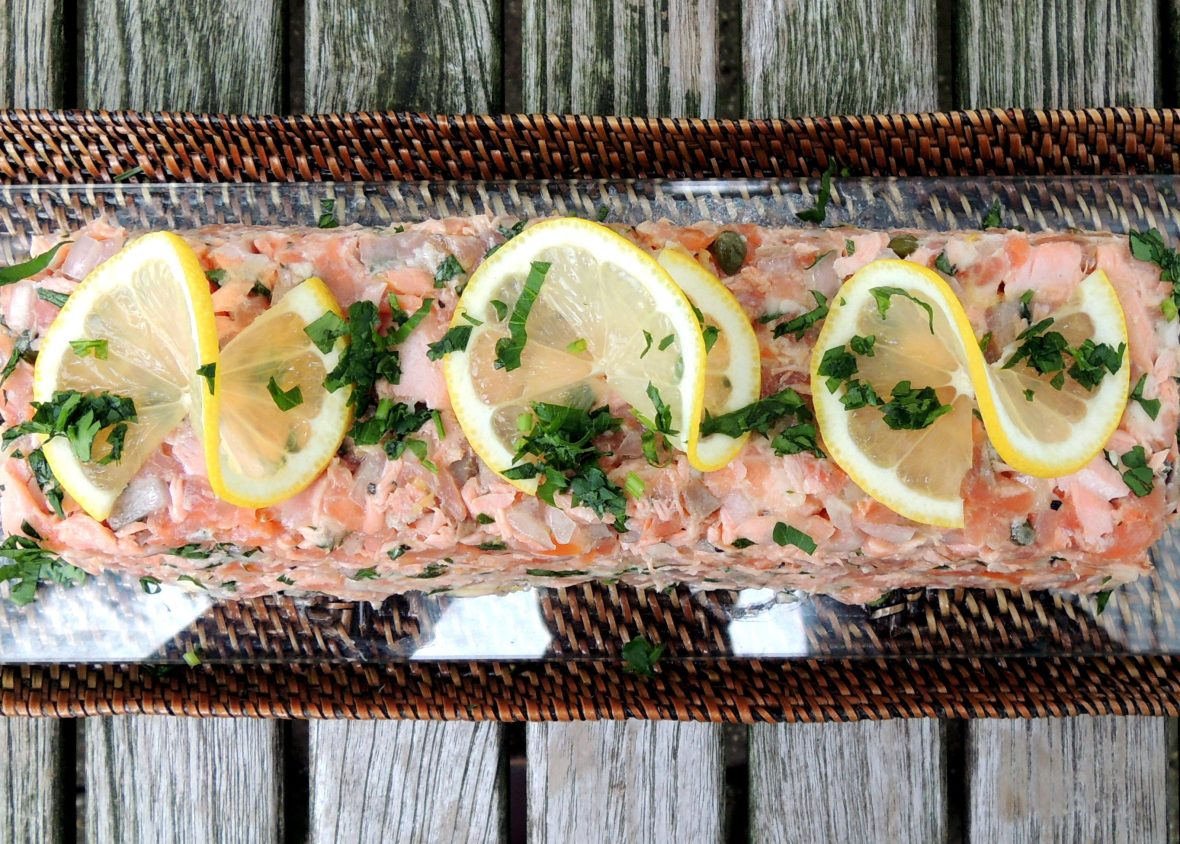 Appetizers, mousses, pates and terrines, salmon rillettes 1