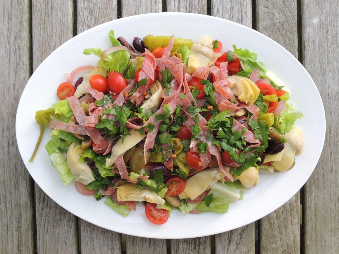 Salads, vegetable, antipasto salad 1