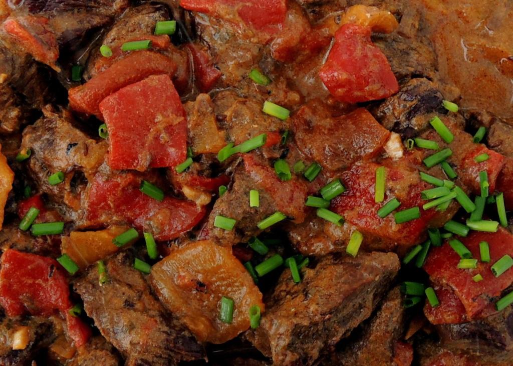 Beef, stews, Hungarian roasted pepper goulash 4