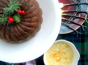 4m1. Desserts, puddings, gingerbread Christmas pudding with orange hard sauce 2