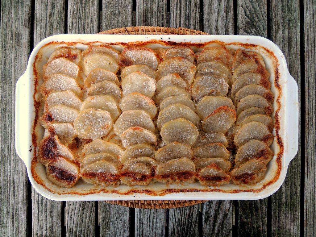 Vegetables, potato gratins, Janssen's temptation 1