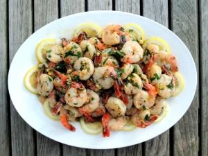 Shrimp, sauteed, crevettes sautees au citron 1