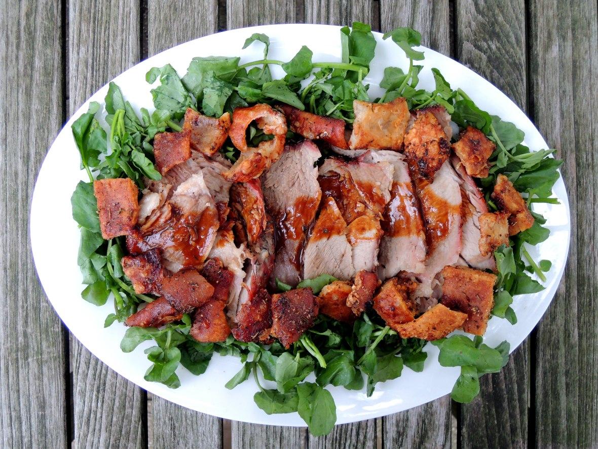 Pork, fresh ham with cracklings and pan gravy (Irish) 1