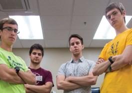 Collin Longenecker, Dylan Grove, Ben Zook, and Austin Engle