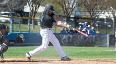Damon Frazier hits the ball