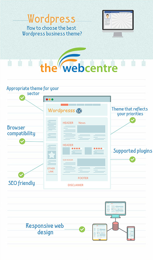 Infographic on how to choose the best WordPress business theme