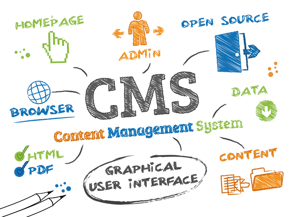 Infographic about Content Management Systems