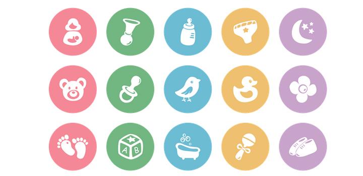 Иконки для сайтов детских товаров