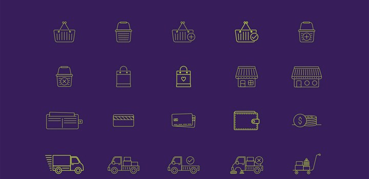 40 бесплатных eCommerce иконок, вектор EPS & PDF