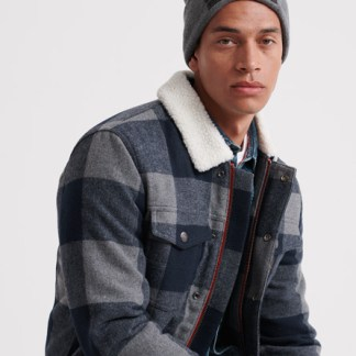 Superdry Superdry Hacienda Wool Check Jacket