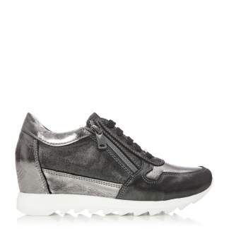Moda In Pelle Bethy Pewter Leather