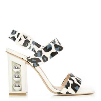 Moda In Pelle Shore Blue-White Patent Leather