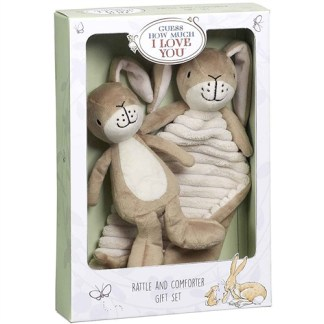 Guess How Much I Love You Guess How Much I Love You Little Nutbrown Hare Rattle & Comfort Blanket Gift Set