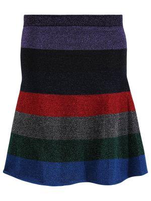 Lurex Striped Mini Skirt