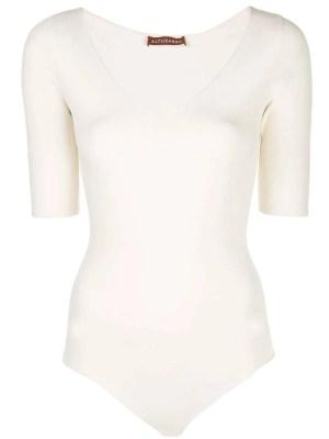 Ivory V-neck Bodysuit