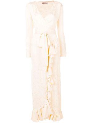 Satin Jaquard Dress