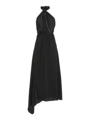 Black Halter Neck Midi Dress
