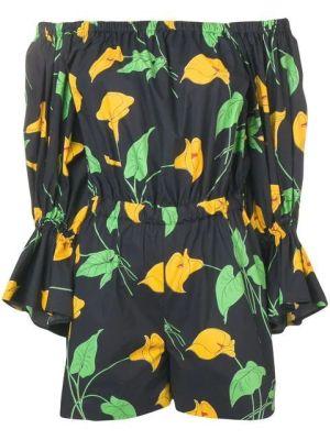 Off-shoulder Floral Playsuit