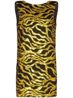 Black And Gold Sequin Mini Dress