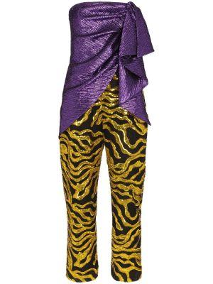 Multi-textured Sequin Jumpsuit