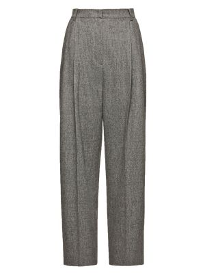 Grey High-waisted Pants