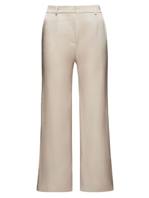 Ivory Silk Flared Pants