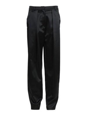 Black Satin High-waisted Harwich Pants