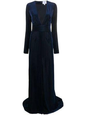 Navy Pinstripe Gown