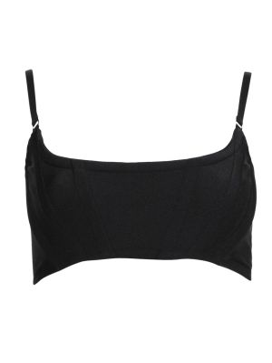 Cropped Corset Bra With Adjustable Straps