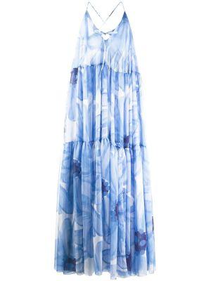 La Robe Mistral Floral Blue Maxi Dress