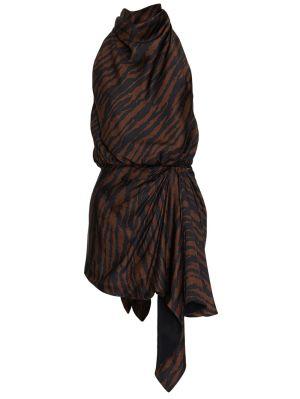 Brow Zebra-print Mini Dress