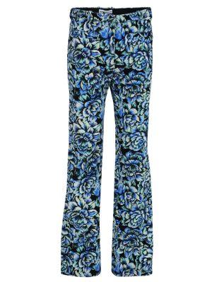 Blue Hortensia Acid Flow Corduroy Pants