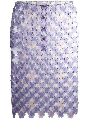 Flower Paillette Skirt