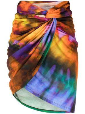 Multicolor Draped Mini Skirt