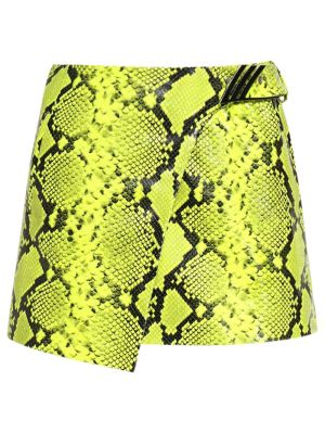 Mini Skirt Python Printed Leather