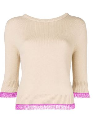 Cashmere Sweater With Fringe Detail
