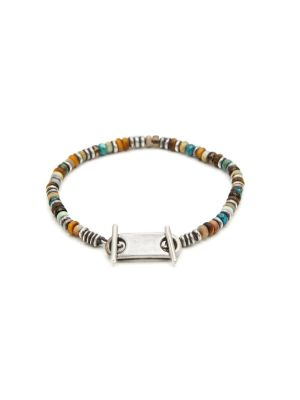 9 Mm Silver Plated Beaded Bracelet